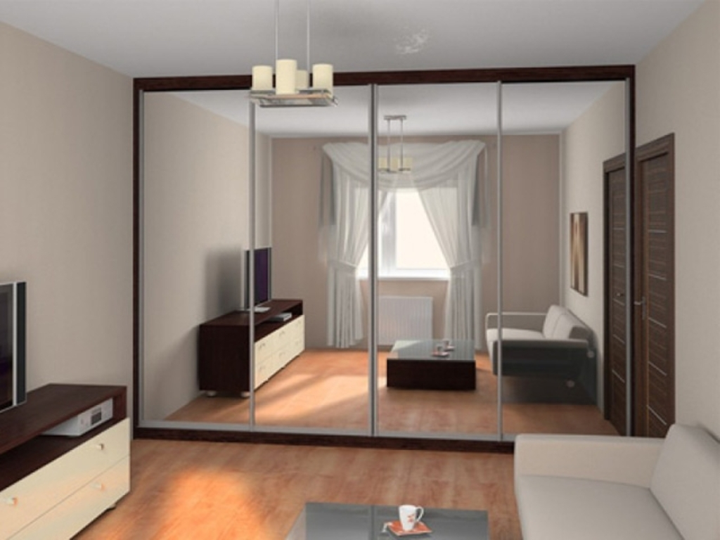 Гостиная 4 на 4 - дизайн интерьера фото.